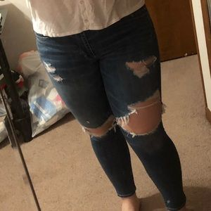 size 14 - American Eagle high rise ripped jeans